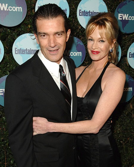 Antonio Banderas and Melanie Griffith at the Entertainment Weekl
