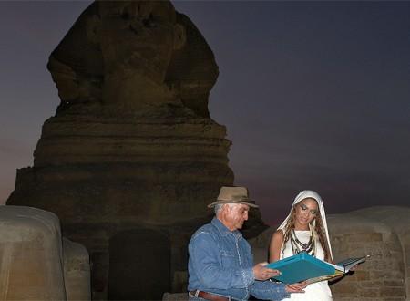 Beyoncé visitó las pirámides