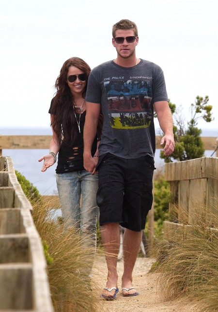 Miley Cyrus y Liam Hemsworth juntos en Australia-02