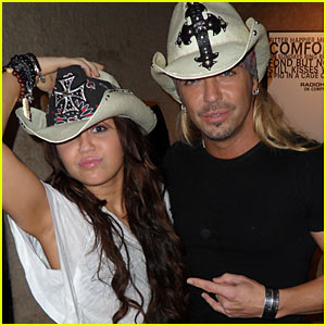 Miley Cyrus y Bret Michaels juntos