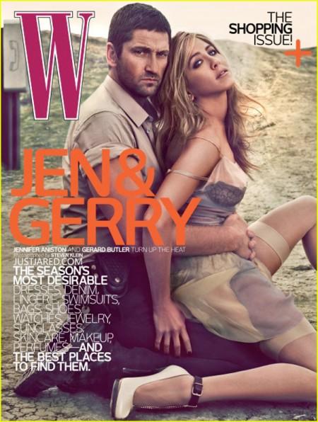 Jennifer Aniston y Gerard Butler en W Magazine 1