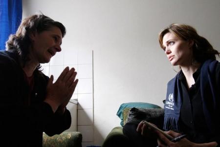 Angelina Jolie en Bosnia