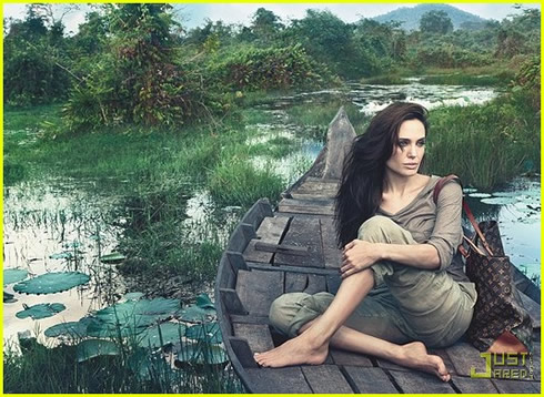 Angelina Jolie posó para la campaña de Louis Vuitton