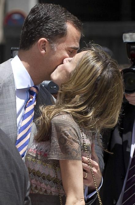 Don Felipe y doña Letizia demuestran su amor