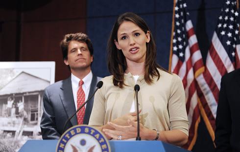Jennifer Garner disertó en el Capitolio