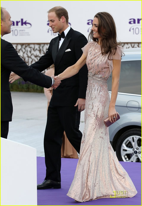 William y Kate en la cena de gala de ARK-05