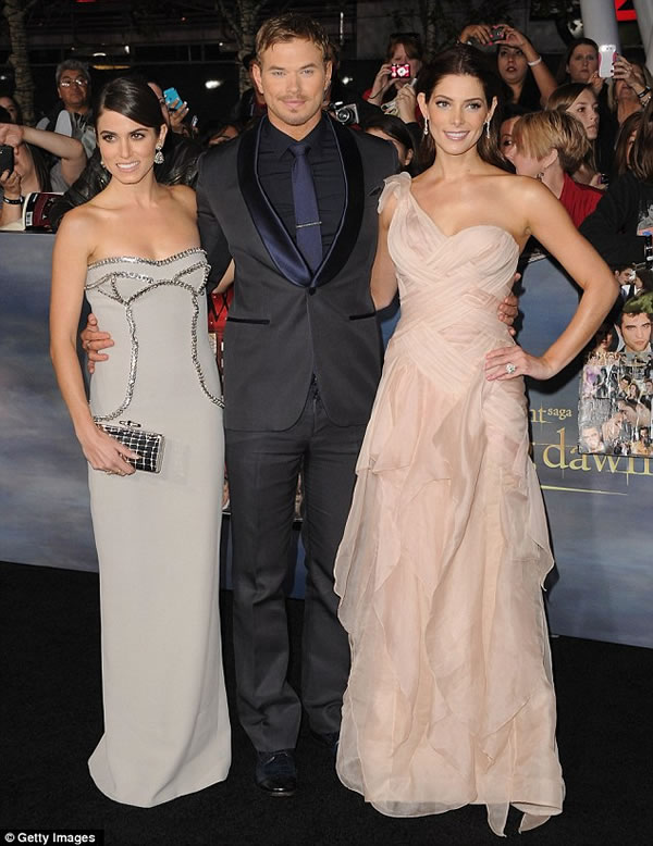 Kellan Lutz, Nikki Reed y Ashley Greene
