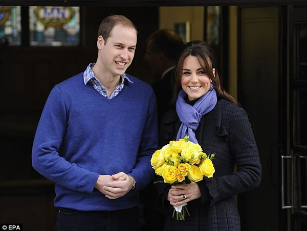 Kate y William con heredero en camino 1